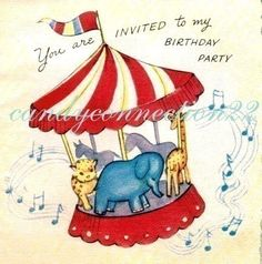 28 Awesome vintage birthday party invitations images