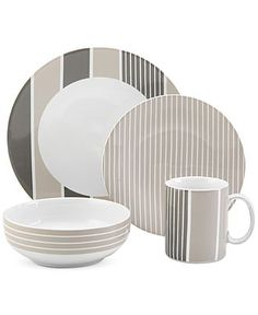 Nautica Knots Bay Taupe 4-Piece Place Setting - Casual Dinnerware - Dining & Entertaining - Macy's
