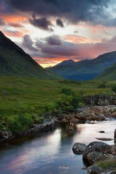 Sunset in the Scottish Highlands by Michael Kirste Photography