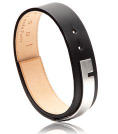 Bracelet U-TURN argent noir - BIjoux Ursul pour homme