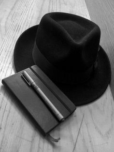 nothing like a fedora and a moleskin