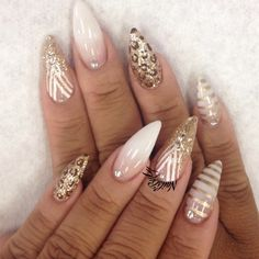 The stiletto nails really caught my eye. They are not like any other regular nails, and not all girls wear them. Ladies, take a look at the Magnificent Stiletto Nail Designs That You Are Going To Love. Sexy Nails, Dope Nails, Fancy Nails, Trendy Nails, Fabulous Nails, Gorgeous Nails, Stiletto Nail Art, Stiletto Nail Designs, Summer Stiletto Nails