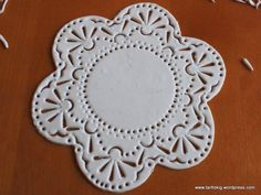 Fondant doily...Great tutorial!