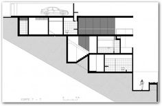 steep slope home designs | Three Bedroomed House On A Steep Slope | House Plans
