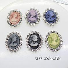 10x Flatback Clear Crystal Buttons Gem Accessories Wedding Buttons Decor DIY