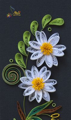 *QUILLING ~ ....dahlia WOW! This looks like hard work.......