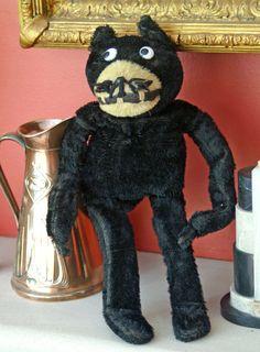 "Vintage Dean Rag ""Felix the Cat ""stuffed toy ...c1920s"
