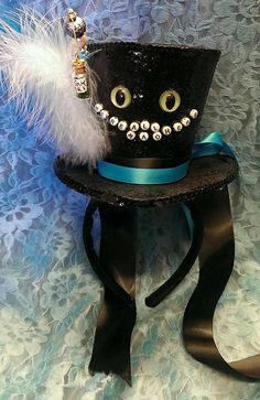 Cheshire Cat Alice in Wonderland Through The Looking by Mad4Hats