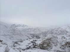 Leh city view #coverd with snow
