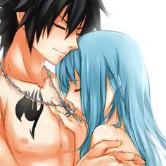I love Fairy tail. - Gray and Juvia