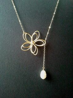 Flower with White Pearl