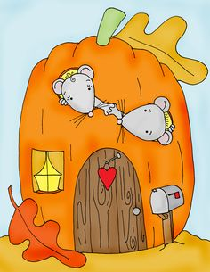Free Dearie Dolls Digi Stamps: Home Sweet Pumpkin