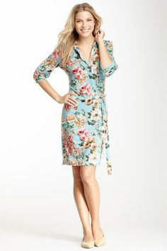 Floral Print Wrap Dress by Veronica M on @HauteLook