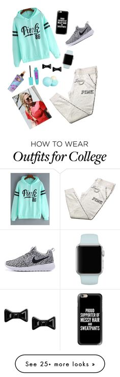 """""""lazy day"""" by ariana78 on Polyvore featuring Victoria's Secret, Casetify, Marc by Marc Jacobs and River Island"""