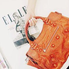 Orange is the new black...#Balenciaga #BalenciagaCity #BalenciagaBag #preowned #covetique