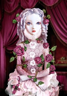 158e91a80a2301 Natalie Shau s art with Lydia Courteille s Jewelry Lydia Courteille Bijoux,  Mixed Media Artists, Gothic