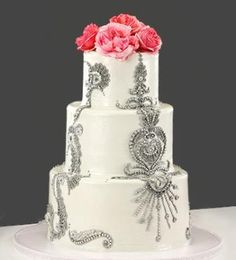 Extravagant/Sugar Paste Wedding Cakes by Sweet Lady Jane