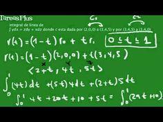 Solución integal de línea para una trayectoria recta