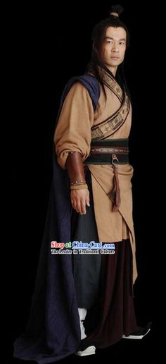 Ancient Chinese Xiang Yu Hero Costumes Complete Set for Men          Glendale