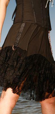 Lip Service Step in Time Steampunk Traveler's Knee Length Skirt Black Gothic M   eBay