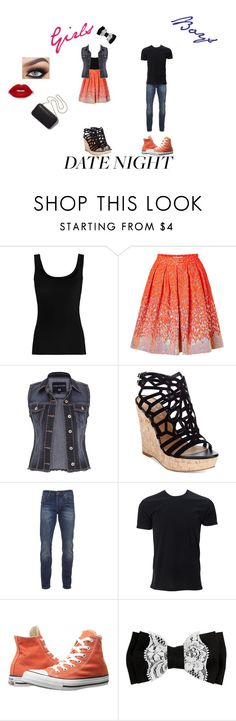 """""""Boy Girl Cuties"""" by emilymedina on Polyvore featuring Twenty, Matthew Williamson, maurices, Charles by Charles David, Scotch & Soda, Converse and Clare V."""