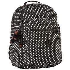 Kipling Seoul Computer Backpack White Dot - - if only it had a water bottle pocket! Backpack Bags, Fashion Backpack, Mini Mochila, Computer Backpack, Kipling Bags, Best Bags, Cool Backpacks, School Bags, Purses And Bags