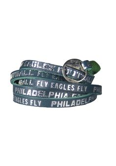 Philadelphia Eagles Wrap Womens Bracelet http://www.rallyhouse.com/shop/philadelphia-eagles-no-show-1457003 $16.99