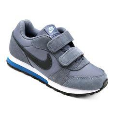 Tênis Infantil Nike Md Runner 2 Velcro Masculino Chumbo e Branco