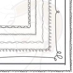 Doodle Black Border Digital Frames Clip Art by MayPLDigitalArt