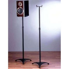 VTI Manufacturing BLE201 Iron Cast Baseadjustable Mini Speaker Stand, As Shown