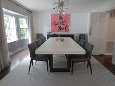 White Concrete Zen Dining Table by Trueform Concrete