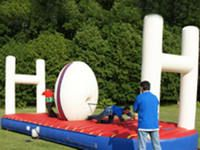 Fun Rugby Game Touchdown Inflatable Bungee Challenge