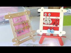 Tuto cadeau fête des mères en bâtonnets: cadre pour boucles d'oreilles - YouTube