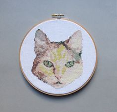 Portrait of a Cat - Cross Stitch Pattern PDF