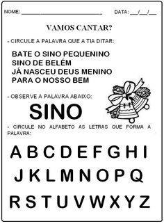 trabalhos de natal para o pré-escolar - Pesquisa Google Education, Words, Ronaldo, 1, Christmas, Christmas Activities, Letter P Activities, Alphabet Soup, Index Cards