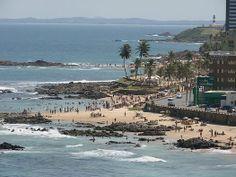 Playa Ondina, una de las playas mas populares de Salvador de Bahía.