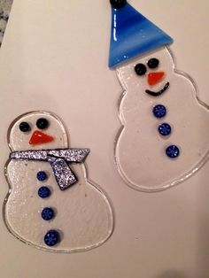Snowmen by Jolly Stones and Glass