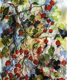 #Rosehips #Watercolor #Art