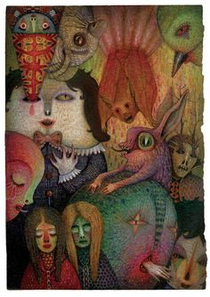 Fairytales, Dreams and Nightmares by V L A D I M I R , via Behance