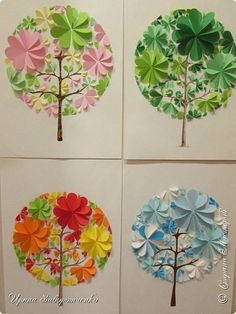 Paper circle christmas trees Circle paper crafts Circle paper crafts for kıds Circle paper crafts animals Circle paper crafts preschool Diy Paper, Paper Art, Paper Crafts, Handmade Crafts, Diy And Crafts, Arts And Crafts, Spring Activities, Art Activities, Diy For Kids