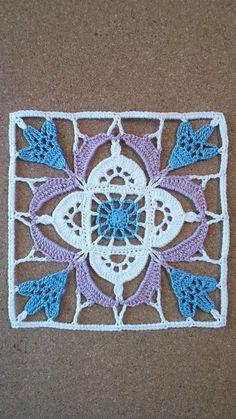 Felissimo Turkish Tile nº 10 Crochet Blocks, Crochet Doily Patterns, Granny Square Crochet Pattern, Crochet Squares, Thread Crochet, Crochet Motif, Crochet Designs, Crochet Doilies, Crochet Yarn