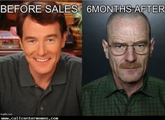 Before and after working in a sales call center - http://www.callcentermemes.com/before-and-after-working-in-a-sales-call-center/