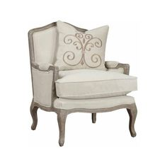 acf56af7df4 Emerald Home Furnishings Salerno Chair-Sand Gray Finish w Pillow-Cream ( 500