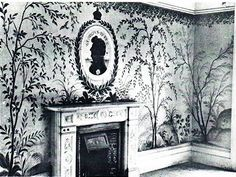 A Sitting Room at 39 Preston Park, Brighton, decorated by Rex Whistler.