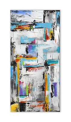 Large Abstract Contemporary Painting on canvas Panoramic Contemporary Abstract Art, Modern Art, Colorful Wall Art, Abstract Canvas Art, Minimalist Art, Art Drawings, Artwork, Bloomington Indiana, Software Online