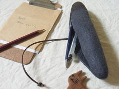 Felted pencil case