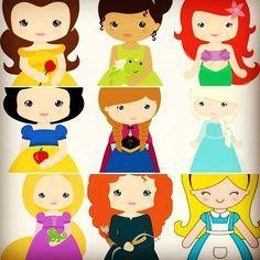 Escolha sua #Princesa ^_^ #Bela #Tiana #Ariel #BrancaDeNeve #Ana #Elsa #Rapunzel #Merida #Alice #ABelaEAFera #APrincesaEOSapo #APequenaSereia #BrancaDeNeveEOsSeteAnoes #Frozen #Valente #AliceNoPaisDasMaravilhas #FestaInfantil #Aniversário #LembrancinhasPersonalizadas #Lembrancinha #Casamento #Decoração