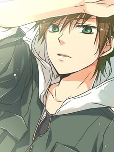 Anime guy with Brown hair :3