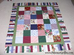 Longaberger Quilt top made from samples of Longaberger fabrics. I still need to get it backed. When I do, I will update the picture