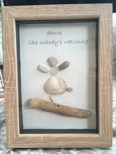 Pebble art dancer picture
